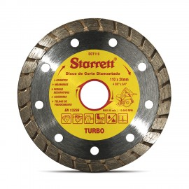 Kit De Discos Diamantados  - 3Pçs - Kddc110-3 - Turbo - 110 X 20Mm - Starret
